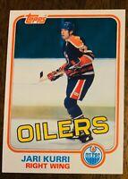 1981 Topps #18 NHL Hockey Rookie Jari Kurri Edmonton Oilers HOF - Mint