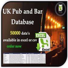 UK Pub and Bar list 50K in excel format