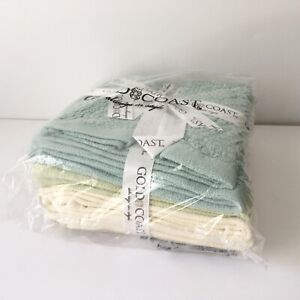 New Gold Coast Tranquility 8 Piece Washcloth set Assorted Colors