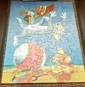 Tom and Jerry Jigsaw Puzzle WHITMAN 63 pieces 1960 complete