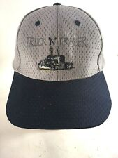 Truck N Trailor  Strapback Adjustable Hat Mens Baseball Cap Blue Gray