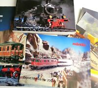 10 Marklin Train Catalogs Year 2002 Export Models & 1 BRAWA Catalog