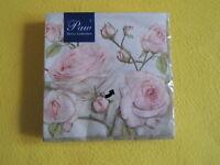 20 Servietten  BEAUTY ROSEN wunderschöne roses 1 Packung OVP Motivservitten paw