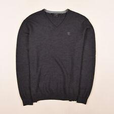 Tiger Of Sweden Herren V-Neck Pullover Sweater Gr.M Mike 100% Merino Wolle 84472