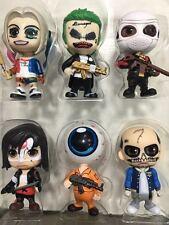 Hot Suicide Squad Harley Quinn The Joker 6pcs Set Figure Figurine New in Box