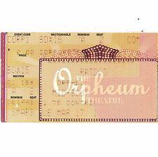 Ratdog Concert Ticket Stub Memphis Tn 3/17/98 Orpheum Theatre Weir Grateful Dead