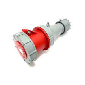 PCE Red 63Amp 5 Pin 3P+N+E 415V Female Socket Ceeform Commando IP67 Waterproof