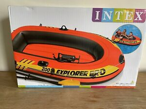 INTEX Explorer Pro 200 With Oars And Pump NEW Dingy