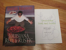 Celebrity Chef EMERIL LAGASSE signed LOUISIANA REAL & RUSTIC Book Jill