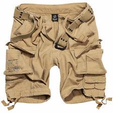 BRANDIT Bermuda Pantaloncini uomo militare SAVAGE VINTAGE SHORTS Over size Beige