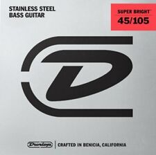 Dunlop Super Bright Stainless Steel 4-string Bass strings 45-105, DBSBS45105