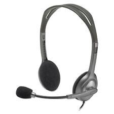 Logitech H111 Binaural Over-the-Head Stereo Headset Black/Silver 981000612