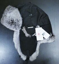 Nathaniel Cole Crown Cap Black Aviator Hat Fur Lined Ear Flaps Extra Large abd1489fa7e5