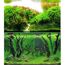 """23.5"""" x 60"""" Double Sided Fish Tank Aquarium Decorate Background Plants / Forest"""