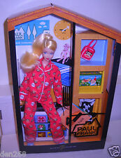 #9473 RARE NRFB Mattel Designer Paul Frank Red Pajamas Barbie Doll