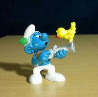 Smurfs 20106 Hunter Smurf Gun Vintage Figure PVC Toy Figurine Peyo Germany Bully
