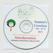 SEAMEN ABERDEENSHIRE - 1851 & Series index, Genealogy