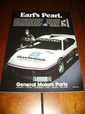 1987 PONTIAC FIERO GM PERFORMANCE PARTS  - ORIGINAL AD