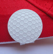 White Metal Golf Ball Marker & Magnetic Hat Clip