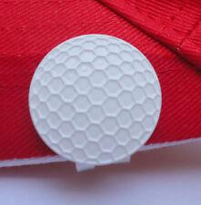 White Metal Golf Ball Marker & Magnetic Hat Clip