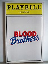 BLOOD BROTHERS Playbill STEPHANIE LAWRENCE / CON O'NEILL Opening Month NYC 1993