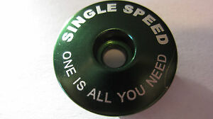 """NEW Singlespeed One is all you need SS Headset Top Cap 1-1/8"""" Threadless Topcap"""