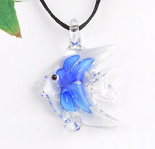 1pc lovely ocean fish Lampwork Glass bead pendant Necklace p869_4