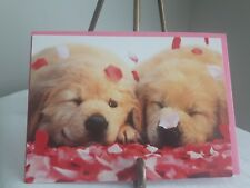 AVANTI VALENTINES DAY CARD Golden Lab Puppy LOVE Envelopes Hugs kisses