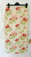 ❤ Vintage LAURA ASHLEY Size 10 Cream Green Pink Long Textured Skirt NEW Landgirl
