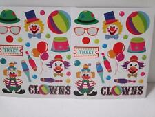 48 CIRCUS JUGGLING CLOWN CLOWNS STICKERS birthday party loot bag favours reward
