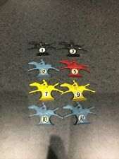 TOTOPOLY. VINTAGE 1950's BOARD GAME METAL HORSES. WADDINGTONS X8