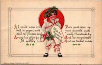 Vintage 1908 Season's Greeting, Raphael Tuck and Sons Christmas Postcard