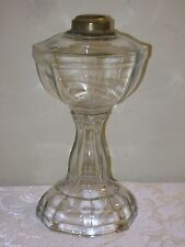 Lovely Antique Clear Glass Octagonal Oil Lamp
