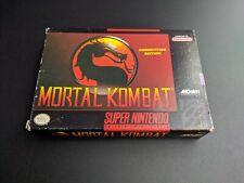 Mortal Kombat 1 Combat Authentic Super Nintendo EXMT condition COMPLETE n box!