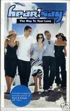HEAR'SAY - THE WAY TO YOUR LOVE 2001 UK CASSINGLE CARD SLEEVE SLIP-CASE