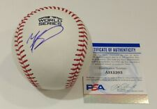 Mookie Betts Red Sox Dodgers Signed Autographed 2018 World Series Baseball PSA