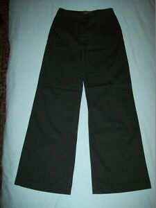 "Calvin Klein Jeans Black Flared Casual Trousers Size 26"" W - 31""L"