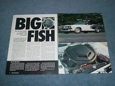 "1971 Plymouth Hemi 'Cuda Convertible Article ""Big Fish"" France Exported"