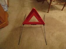 02 01 OEM Audi A4 Spare Tire Roadway Sign, Hazard Safety Triangle Folding Stand