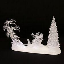 LED Acrylique Père Noël avec renne Santa 33 cm LED Lampe décorative 70428