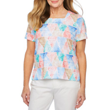 $54  ALFRED DUNNER LE JARDIN 2019 SHORT-SLEEVE TOP     SIZE  XL NWT