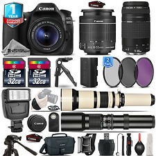 Canon EOS 80D DSLR Camera + 18-55mm IS + 75-300mm III+ 1yr Warranty - 64GB Kit