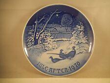 Vintage Bing & Grondahl B&G Royal Copenhagen 1970 Pheasants in Snow Plate