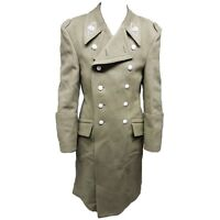 Genuine Vintage Hungarian Infantry Wool Overcoat Greatcoat Uniform Khaki Green