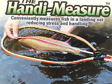 The Handi-Measure Measures Fish in a Landing Net Freshwater Rust Proof