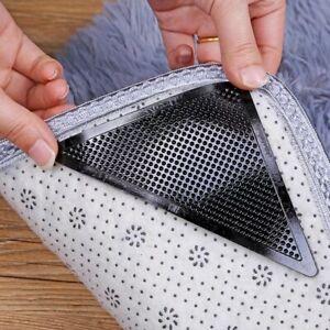 4Pcs Anti Slip Rug Grippers Rubber Corner Floor Mat Washable Carpet Pad Stopper