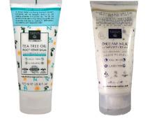 Earth Therapeutics Dream Silk Comfort Cream + Tea Tree Oil Foot Repair 6 oz ea