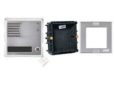 URMET 1148/21 Modulo Sinthesi alluminio posto esterno 1 Pulsante + KIT INCASSO