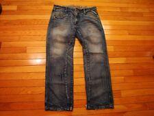 express Rocco Slim Fit Straight Leg Blue Jeans Men Size 34 x 30