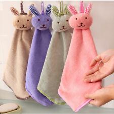 Baby Hand Towel Cartoon Cute Rabbit Plush Kitchen Soft Bath Wipe Towel Washcloth